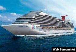La línea de cruceros Carnival planea rutas con escalas en Cuba.