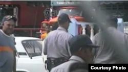 Policía maltrata a opositores en Santa Clara