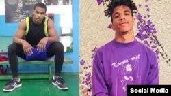 De izq. a der. los boxeadores cubanos Bayona Pedroso y Lenar Pérez Fransua. Tomada de @lenar__perez y @bayona.pedroso
