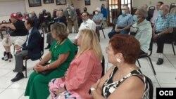 Participantes en la presentación del documental Operación Coraje / Cortesía Pedro Corzo