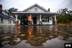 Inundaciones en Lumberton, Carolina del Norte.