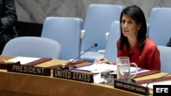 Embajadora estadounidense ante la ONU, Nikki Haley.
