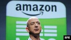 Foto de archivo del fundador y consejero delegado de la tienda por internet Amazon, Jeff Bezos.