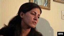 Rosa María Payá, durante una rueda de prensa en La Habana, Cuba