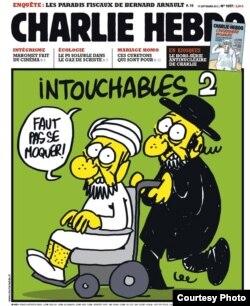 """Una de las portadas más satíricas de """"Charlie Hebdo"""" sobre Mahoma."""
