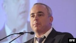 El ministro de Finanzas de Israel, Yuval Steinitz.