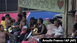 Migrantes en Darién, Panamá, el 10 de mayo de 2019 (Arnulfo Franco/AP)