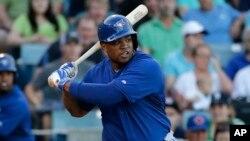 Dayan Viciedo cuando jugaba con los Blue Jays Yankees de Toronto, en marzo de 2015. (AP Photo/Kathy Willens)
