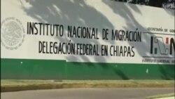 Cubanos en huelga de hambre en Chiapas, México