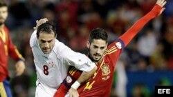 España y Georgia en la clasificación Mundial 2014