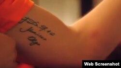 José Fernández llevaba tatuado en su brazo los nombres de su madre Maritza y su abuela Olga.