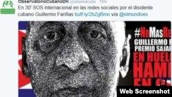 Guillermo Fariñas ha sido hidratado en cinco ocasiones desde que comenzó la huelga el 20 de julio.
