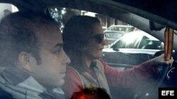Carromero, a su salida del Centro de Inserción Social, el lunes 14 de enero de 2013