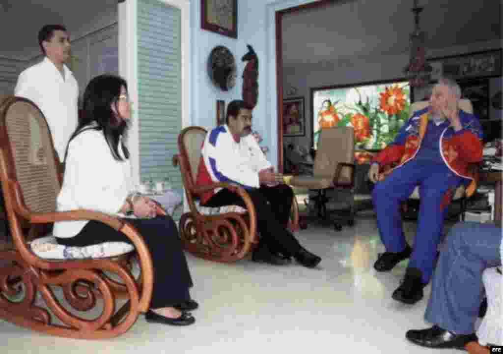 Durante la reunión en La Habana Castro alabó a Maduro por su implicación en la crisis de Gaza con el envío de ayuda humanitaria.