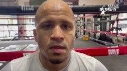El boxeador cubano súper gallo Jorge de Jesús Moreno entrena en Miami.