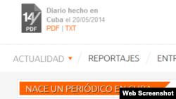 El periódico digital 14ymedio nació en Cuba, el 20 de mayo de 2014.