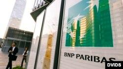 Logo del banco francés BNP Paribas.