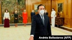 El canciller español José Manuel Albares en su investidura el 12 de julio de 2021 (Andrés Ballesteros / AFP).