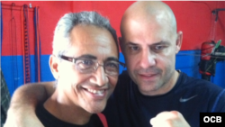 Jorge Rubio (i) y Erick Castaño.