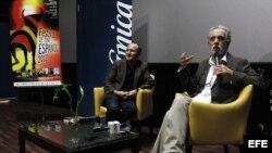 """El director de cine español Fernando Trueba durante la presentación de su última película """"El artista y la modelo"""" en Caracas."""