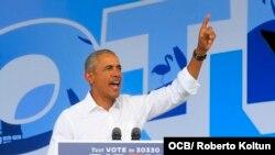 Barack Obama visita Miami y pide el voto para Biden y Harris