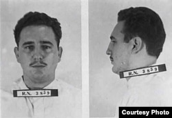 Ficha policial de Fidel Castro en México, 1956.