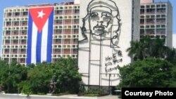 Edificio A del MININT en La Habana, Cuba.