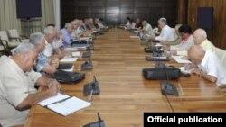 El primer Consejo de Ministros que celebró Díaz-Canel tras su nombramiento el pasado 19 de abril en sustitución de Raúl Castro.