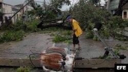 Cuba - destrozos causados por el ciclón Sandy