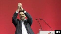 Alexis Tsipras, durante las campaña electoral en enero pasado.