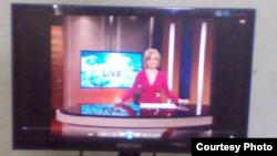 El noticiero de Televisión Martí en un televisor de Cuba. Foto cortesía del Foro Juvenil Cubano