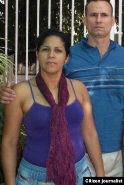 Yusmila Reyna y José Daniel Ferrer. Tomado del Twitter @YusmilaReyna