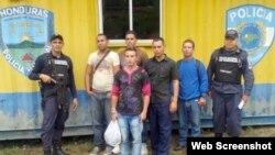 Cubanos retenidos en Honduras 20 de noviembre, 2014.