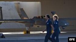 Dron israelí 'Heron' en la base aérea de Palmachim, cerca de Yavne, Israel.