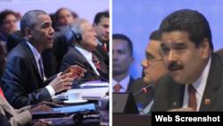 Maduro y Obama en la Cumbre de Las Américas.