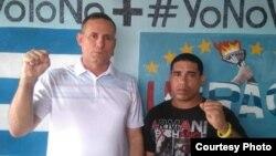 Yuselin Ferrera Espinosa (derecha) junto al líder de UNPACU, José Daniel Ferrer. (Foto: Cubanet)