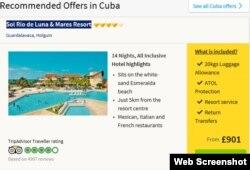 Esta oferta en Cuba del turoperador británico Thomas Cook seguramente va a subir de precio con la caída de la libra esterlina