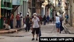 Vista de las calles de La Habana durante la pandemia.