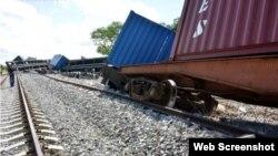 Accidente ferroviario en linea de Mariel a Matanzas