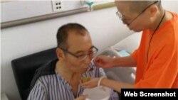 """El hospital de Shenyang indicó este jueves en su página de internet que la función hepática del hígado de disidente """"se deterioró""""."""