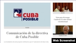 Portada de Cuba Posible, el 20 de mayo de 2019.