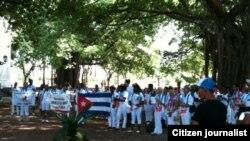 Damas de Blanco dedican marcha dominical a la memoria de Laura Pollán