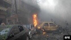 Siria conflicto. Foto de archivo.