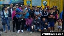 Cubanos retenidos en Honduras el 5 de febrero de 2019. (Foto: Policía Nacional de Honduras)