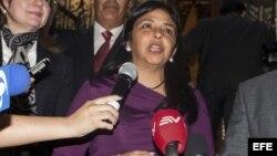 La canciller de Venezuela, Delcy Rodríguez. EFE