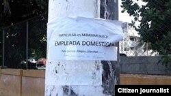 Sectores solventes como los artistas y dueños de pequeños negocios en Cuba tienen demanda de empleadas domésticas.
