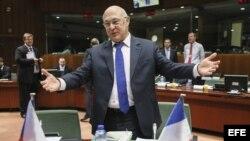 El ministro francés de Finanzas, Michel Sapin.