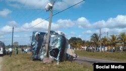 Accidente de tránsito en Camagüey / Foto de Facebook de Adelante Cuba