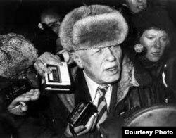 Sajarov a la llegada a Moscú tras el destierro en la Siberia.