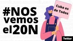 Marcha del 20 de noviembre. (Imagen/@ArchipielagoCu)
